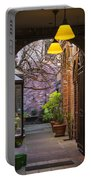 Old Town Courtyard In Victoria British Columbia Portable Battery Charger by Ben and Raisa Gertsberg