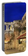 Old Town Of Split At Dusk Croatia Portable Battery Charger