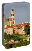 Old Town Of Warsaw Skyline Portable Battery Charger