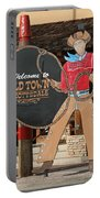 Old Town Scottsdale Cowboy Sign Portable Battery Charger