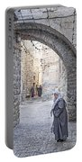 Old Town Street Of Jerusalem Israel Portable Battery Charger