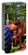 Old Tractor Digital Paint Portable Battery Charger