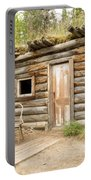 Old Traditional Log Cabin Rotting In Yukon Taiga Portable Battery Charger