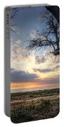 Old Tree Sunset Over Oyster Bay Portable Battery Charger