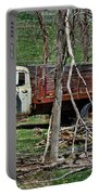 Old Truck At Rest Portable Battery Charger