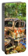 Old Trucks And Old Bicycles Portable Battery Charger