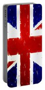 Old United Kingdom Flag Original Acrylic Palette Knife Painting Portable Battery Charger