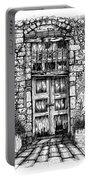 Old Venetian Door In Rethymno Portable Battery Charger