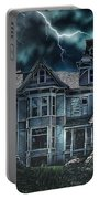 Old Victorian House Portable Battery Charger by Mo T