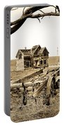 Old Wagon And Homestead II Portable Battery Charger by Athena Mckinzie