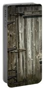 Old Weathered Barn Door Portable Battery Charger