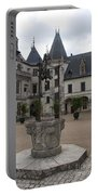 Old Well And Courtyard Chateau Chaumont Portable Battery Charger