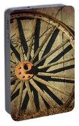 Old West Wagon Wheel Portable Battery Charger