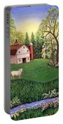 Old White Barn Portable Battery Charger