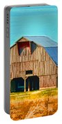 Old Wood Barn  Digital Paint Portable Battery Charger