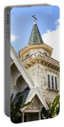 Old Wooden Victorian Chapel Church Steeple Fine Art Landscape Photography Print Portable Battery Charger
