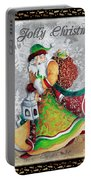 Old World Santa Clause Christmas Art Original Painting By Megan Duncanson Portable Battery Charger
