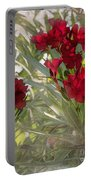 Oleander Blooms - A Touch Of Red Portable Battery Charger
