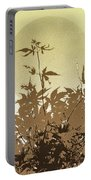 Olive And Brown Haiku Portable Battery Charger