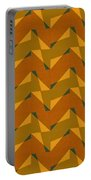 Olive Green And Orange Chevron Collage Portable Battery Charger