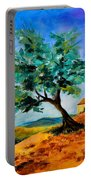 Olive Tree On The Hill Portable Battery Charger by Elise Palmigiani