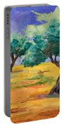 Olive Trees Grove Portable Battery Charger