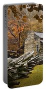 Oliver's Log Cabin During Fall In The Great Smoky Mountains Portable Battery Charger