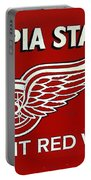 Olympia Stadium - Detroit Red Wings Sign Portable Battery Charger