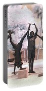Olympic Wannabes Sculpture By Glenna Goodacre Near Infrared Portable Battery Charger