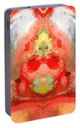 Om - Red Meditation - Abstract Art By Sharon Cummings Portable Battery Charger