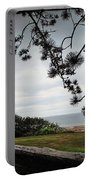 Omaha Beach Under Trees Portable Battery Charger