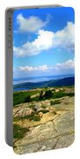 On A Mountain In Maine Portable Battery Charger