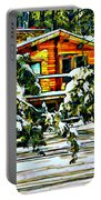 On A Winter Day Portable Battery Charger by Steve Harrington