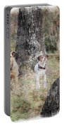 On Guard - Featured In Comfortable Art Group Portable Battery Charger