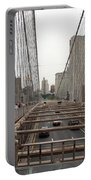 On The Brooklyn Bridge Portable Battery Charger
