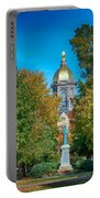 On The Campus Of The University Of Notre Dame Portable Battery Charger