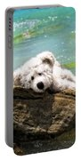 On The Rocks - Teddy Bear Art By William Patrick And Sharon Cummings Portable Battery Charger