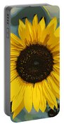 One Bright Sunflower - Digital Art Portable Battery Charger