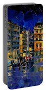 One Evening In Terreaux Square Lyon Portable Battery Charger