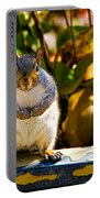 One Gray Squirrel Portable Battery Charger