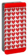 One Hundred Hearts Portable Battery Charger