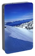 One Man Skiing In Powder High Portable Battery Charger