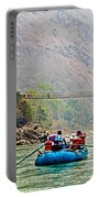 One Of Many Suspension Bridges Crossing The Seti River In Nepal Portable Battery Charger