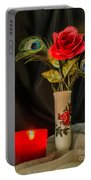 One Red Christmas Rose Portable Battery Charger