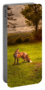 One Red Fox Portable Battery Charger by Bob Orsillo