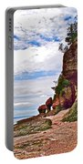 One Side Of Flowerpots At Hopewell Rocks-new Brunswick  Portable Battery Charger