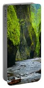 Oneonta River Gorge Portable Battery Charger by Inge Johnsson