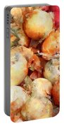 Onions Closeup Portable Battery Charger