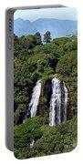 Opaekaa Falls In Kauai Portable Battery Charger