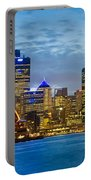 Opera House And Buildings Lit Portable Battery Charger